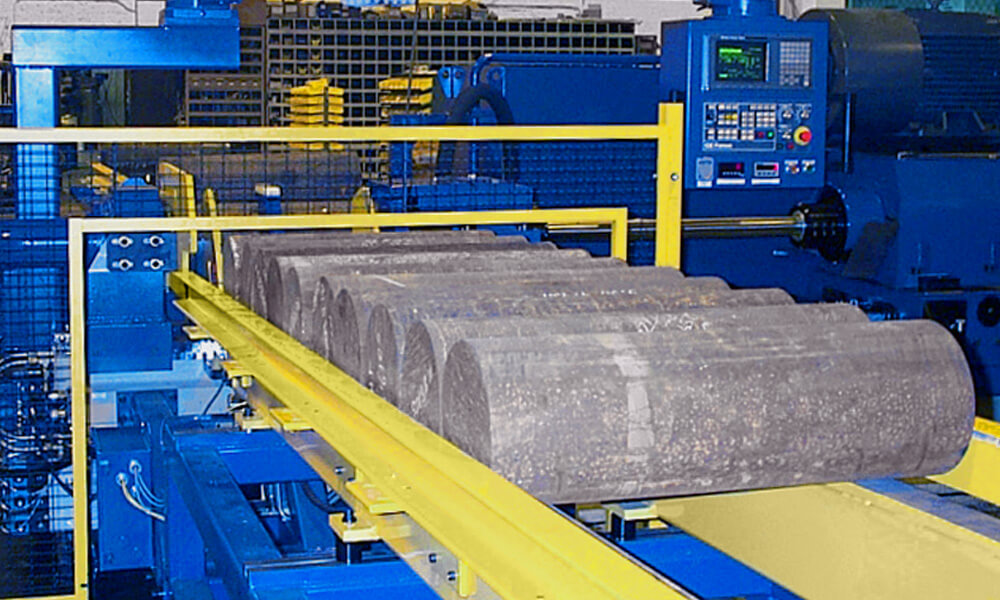 heavy part handling for drilling machines
