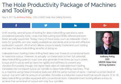 The Hole Productivity Package – Advanced Manufacturing Feature